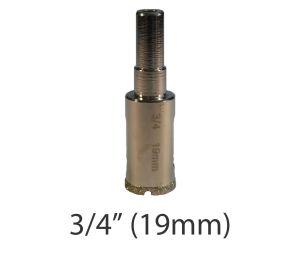 "3/4"" (19mm) Electroplated Diamond Grit Edge Hole Saw"