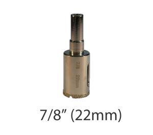 "7/8"" (22mm) Electroplated Diamond Grit Edge Hole Saw"