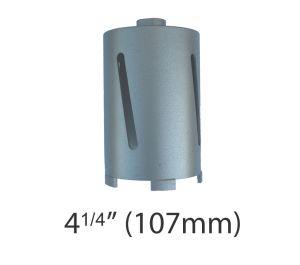 """4 1/4"""" (107mm) dia. X 150mm Long Sintered Diamond Core Drill Bit 5/8-11UNC Thread"""