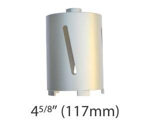 """4 5/8"""" (117mm) dia. X 150mm Long Sintered Diamond Core Drill Bit 5/8-11UNC Thread"""