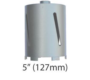 "5"" (127m) dia. X 150mm Long Sintered Diamond Core Drill Bit 5/8-11UNC Thread"